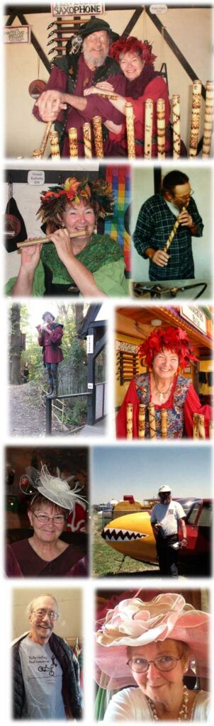 Collage of Rod and Ginger photos from Renaissance Festivals and personal life