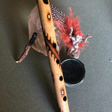 Bamboo earth flute with the 4 elements