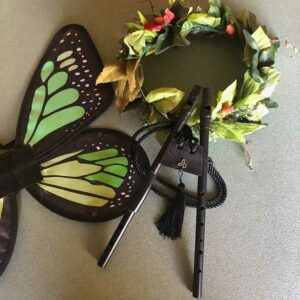 Fairy pipes with fairy wings and feather circlet